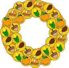 paper plate thanksgiving wreath