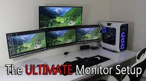 Triple Monitor Wall Mount Ultimate Monitor Setup Triple 27