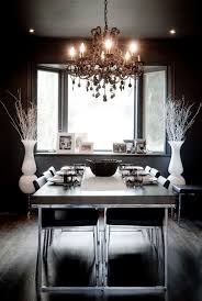 Black Chandelier Dining Room Black Chandelier Dining Room Eclectic With Bay Window