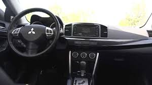 mitsubishi lancer sportback interior 2016 mitsubishi lancer gt interior youtube
