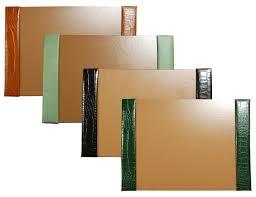 Writing Desk Accessories by Large 3 Piece Crocodile Grain Leather Desk Pad Sets