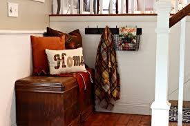 golden boys and me fall home tour part one family room entryway front entryway in split level home with fall decor www goldenboysandme com