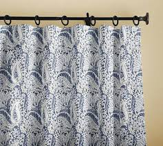 White Curtains With Blue Trim White And Blue Curtains Print Drape X Blue White Curtains Blue