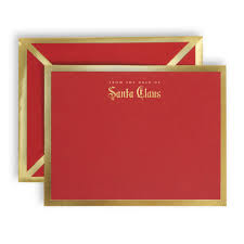from the desk of santa claus red card and envelope u2013 stylist paper