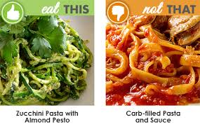 eat this not that tasty low carb alternatives to high carb