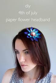 4th of july headband vitamini handmade diy 4th of july paper flower headband