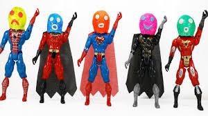 play doh superhero iron man batman nice learning colors for
