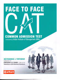 buy face to face cat common admission test book online at low
