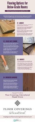 infographic flooring options for below grade rooms floor
