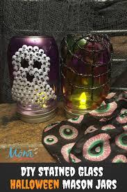 diy halloween stained glass mason jars craft