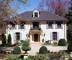 country french style home ideas exterior makeover blue shutters