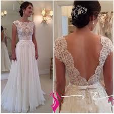 flowy wedding dresses wedding dress simple a line lace bodice chiffon skirt flowy