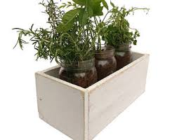 Indoor Herb Planters by Shabby Chic Planter Etsy