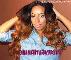 honey weave sew in weave hairstyle brown ombre hair honey sew in