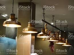 restaurant kitchen lighting image of copper hanging lamps lights in row restaurant kitchen