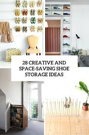 Ikea Shoe Storage Tension Rod Shoe Storage 22 Diy Ideas Dollar Storesdiy For Shoes