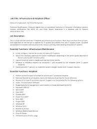 Resume For It Support It Support Duties And Responsibilities How To Write A Resume For