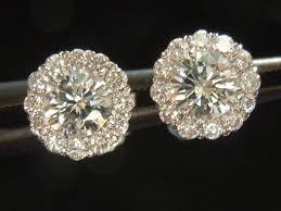 illusion earrings diamond white gold earrings diamond earrings halo diamond earrings