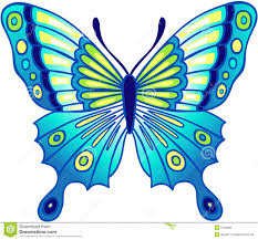 blue butterfly vector illustration royalty free stock photo