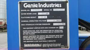 1994 genie z 45 22 boom lift item g9100 sold october 9