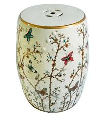 butterfly painting indoor chinese ceramic stool home decoration