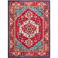 Home Depot Rugs Sale Safavieh Monaco Red Turquoise 10 Ft X 14 Ft Area Rug Mnc207c 10