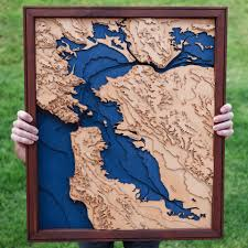 San Francisco Topographic Map by San Francisco Bay Laser Cut Map Album On Imgur