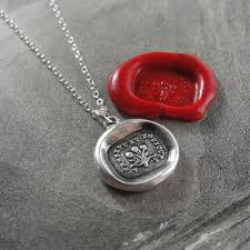 wax seal jewelry now and always wax seal necklace with bouquet antique