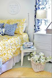 Yellow Decor Ideas Blue And Yellow Farmhouse Bedroom Bedrooms Decorating And