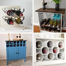 a roundup of 24 awesome diy wine racks home decor ideas
