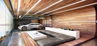 garage room this home s garage is in the living room and bedroom shows off cars