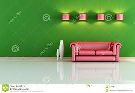 red and green living room stock image image 8149191