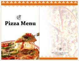 sample pizza menu template
