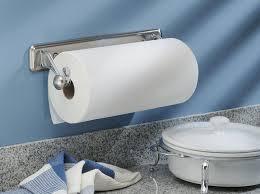 Kitchen Towel Racks For Cabinets Amazon Com Interdesign York Lyra Wall Mounted Paper Towel Holder