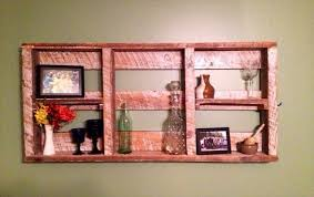 Recycled Wall Decorating Ideas Pallet Shelves For Wall Decor Recycled Things