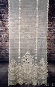 Heirloom Lace Curtains At Auction Now Gorgeous Antique Victorian French Net Tambour