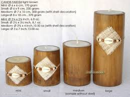 wholesale bamboo candles manufacturer exports jedicreations