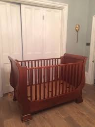Sleigh Cot Bed Simon Horn Nursery Sleigh Cot Bed And Chest Of Draws With Built In