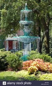 lafayette square fountain in lafayette square savannah georgia usa stock photo
