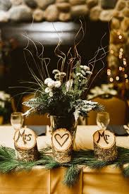 Decoration For Christmas Wedding by Best 25 Wood Wedding Centerpieces Ideas On Pinterest Wood