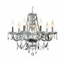 decor living 8 light crystal and chrome chandelier 104993 15 the