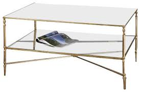 Uttermost Table Uttermost Henzler Mirrored Glass Coffee Table Traditional
