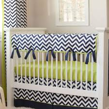 Zig Zag Crib Bedding Set Navy And Citron Zig Zag Crib Bedding Carousel Designs