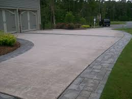 Brushed Concrete Patio Concrete Stamped Border Driveway With Broom Finish Interior