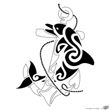 tribal anchor designs 35 awesome dolphin designs