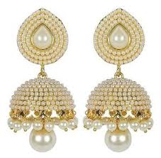 fancy jhumka earrings stylish fancy party wear traditional pearl jhumki jhumka