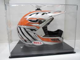 bell helmets motocross motocross helmet display case full size memorabilia 85 uv