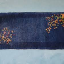 Blue Wool Rug Vintage Area Rug Auction Antique Area Rugs And Accent Rugs In