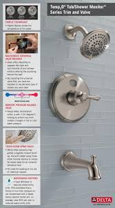 delta temp2o led digital temperature display single handle 5 spray home depot faucet 144984 sst2o temp2o t14 shower with valve infographic