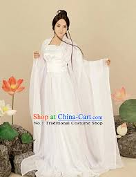 Chinese Halloween Costume Asian Fashion Chinese Pure White Hanfu Halloween Costumes Women